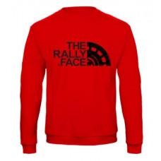 THE RALLY FACE pulóver, piros