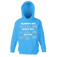 MY VFTS gyerek pulóver, azúrkék (140-es méret)