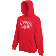 RALLY murvanyom kapucnis férfi pulóver, piros