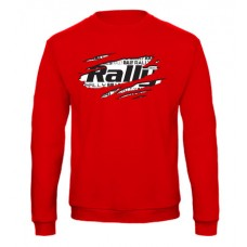 RALLY pulóver, piros