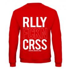 RALLY FCKN CROSS pulóver, piros (UTOLSÓ L méret)
