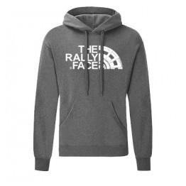 THE RALLY FACE kapucnis férfi pulóver, sötétszürke