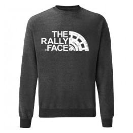 THE RALLY FACE férfi pulóver, sötétszürke