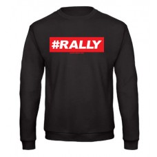 #RALLY pulóver, fekete