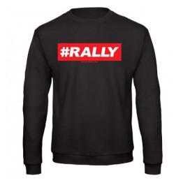 #RALLY férfi pulóver, fekete