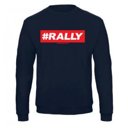 #RALLY férfi pulóver, sötétkék