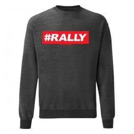 #RALLY férfi pulóver, sötétszürke