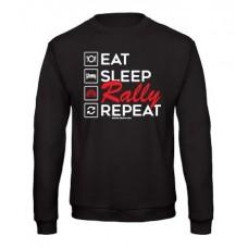 EAT SLEEP RALLY férfi pulóver, fekete (UTOLSÓ 2XL méret)