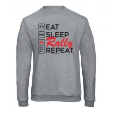 EAT SLEEP RALLY férfi pulóver, szürke (UTOLSÓ XXL méret)