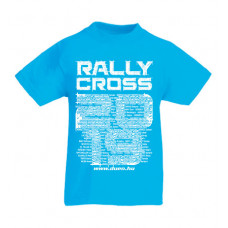 RALLYCROSS 2019 gyerek póló, azúrkék