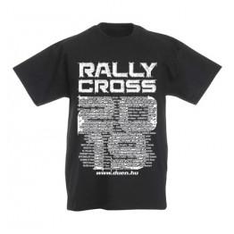 RALLYCROSS 2019 gyerek póló, fekete