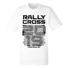 RALLYCROSS 2019 férfi póló, fehér