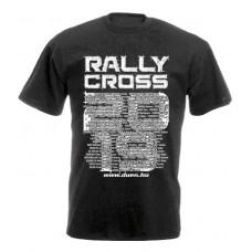 RALLYCROSS 2019 férfi póló, fekete