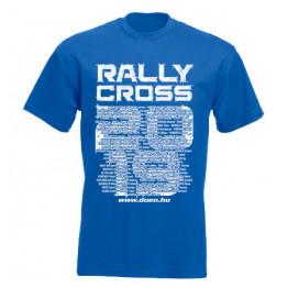 RALLYCROSS 2019 férfi póló, királykék