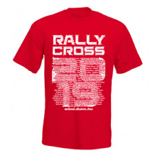 RALLYCROSS 2019 férfi póló, piros