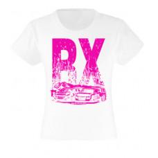 RX NEON lány póló, fehér