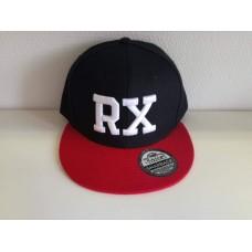 RX baseball sapka, fekete / piros SNAPBACK