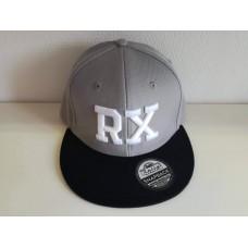 RX baseball sapka, szürke / fekete SNAPBACK
