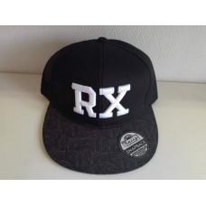 RX baseball sapka, fekete / geometric SNAPBACK
