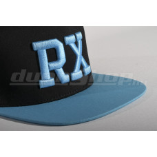 RX baseball sapka, fekete/ dupla azúrkék  SNAPBACK