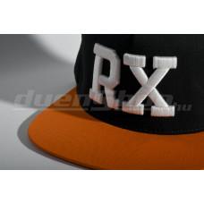 RX baseball sapka, fekete/ narancs  SNAPBACK