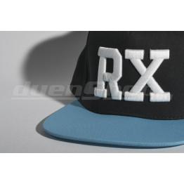 RX baseball sapka, fekete/ azúrkék  SNAPBACK