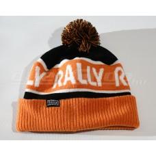 RALLY kötött téli sapka,  fekete / narancs