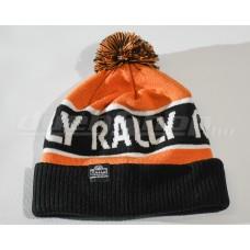 RALLY kötött téli sapka, narancs / fekete