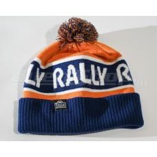 RALLY kötött téli sapka, narancs / kék