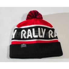 RALLY kötött téli sapka, piros / fekete