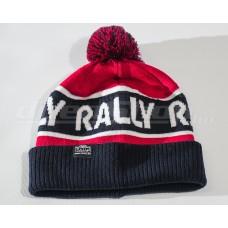 RALLY kötött téli sapka, piros / sötétkék
