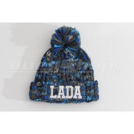 LADA téli bélelt sapka,  grafit-kék