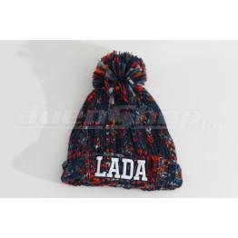 LADA téli bélelt sapka, piros-kék