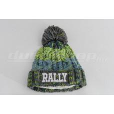 BÉLELT RALLY bébi sapka, zöld-kék
