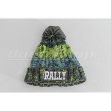 BÉLELT RALLY gyerek sapka, zöld-kék