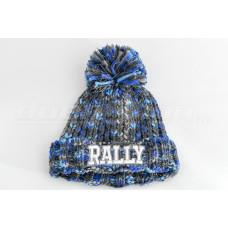 RALLY téli bélelt sapka,  szürke-kék