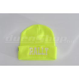 RALLY kötött visszahajtott sapka, neon
